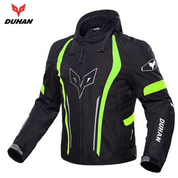 Trendy DUHAN Motorcycle Jackets Men Racing clothing  Waterproof and warmth Jacket Moto Protective Spine Chest Protective coat, D-205 AT_94_13