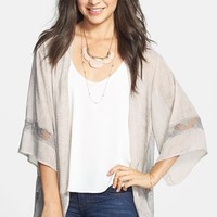 h.i.p. Lace Inset Lightweight Jacket (Juniors) | Nordstrom