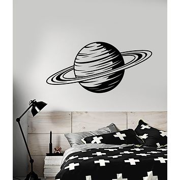 Vinyl Wall Decal Cartoon Planet Saturn Space Theme Stickers (3208ig)