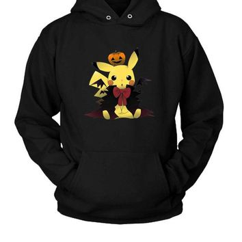 DCCK7H3 Halloween Render Pikachu Hoodie Two Sided