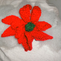 handmade Crocheted Poinsettia by CanadianCraftCritter on Etsy