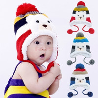 Baby Boy Girl Infant Toddler Child Winter Warm Crochet Knit Earflap Hat Caps 18569 = 1745658692