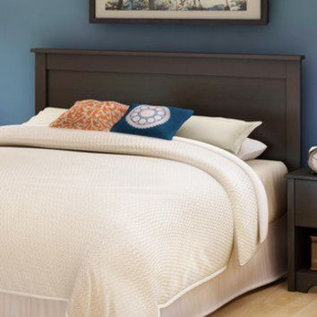 South Shore Vito Full/Queen Size Headboard in Chocolate | Wayfair