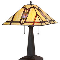 Stained Glass Arts & Crafts Lawrence Table Lamp