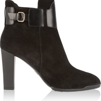 Tod's - Suede and leather ankle boots