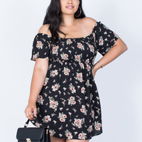 Plus Size Sophia Floral Dress