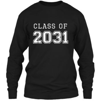 Class of 2031 Grow With Me  First Day of School  LS Ultra Cotton Tshirt