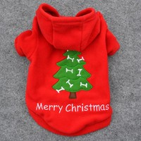 Merry Christmas Hoodie Puppy Clothes, Dog Clothes & Cat Clothes
