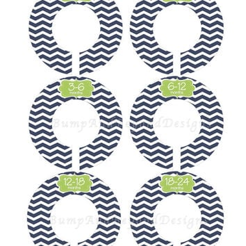 Custom Baby Closet Dividers Boy Baby Nursery Dividers Navy Blue Green Chevron Baby Shower Gift Closet Organizers Baby Boy 015