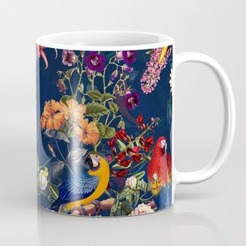 FLORAL AND BIRDS XII Coffee Mug by burcukorkmazyurek
