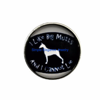 I Like Big Mutts Snap 20mm for Snap Charm Jewelry