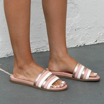 Golden Hour Pink & Rose Gold Slides