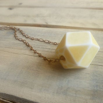Yellow Geometric Necklace Lemon Sorbet by SilkPurseSowsEar