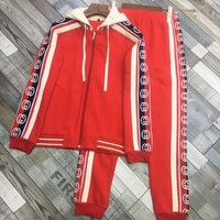 Gucci 2019 new men and women sports suit two-piece