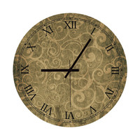 Wall Clock - Antique Roman Numbers Clock Home Decoration Wall Art Vintage Wall Clock Minimalist Clock Floral Living Room Home Office Clock