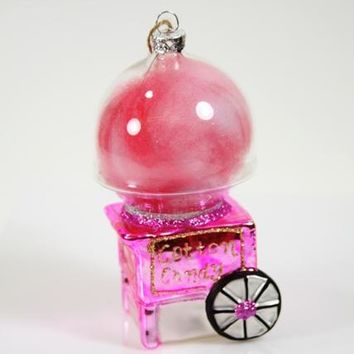 Cotton Candy Maker Glass Ornament