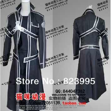 Custom clothes    Sword Art Online  Kirito Cosplay clothes  Send belts  chest protector