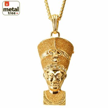 "Jewelry Kay style Men's Hip Hop Egyptian Pharaoh 30"" 4mm Cuban Chain Pendant Necklace Set MP 67 GG"
