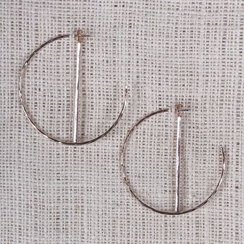 Hoop And Rhinestone Bar Earring