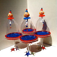 Just Clowin' Around....(set of 4) clown theme mini cupcake stands