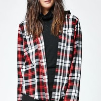 Hurley Wilson Hooded Plaid Button-Down Shirt - Womens Shirts