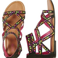 NEON STUDDED GLADIATOR SANDALS | GIRLS THE COLLECTIONS {PARENT_CATEGORY} | SHOP JUSTICE