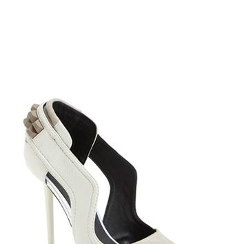 Women's L.A.M.B. 'Enforce' Leather & Suede Pointy Toe Pump,