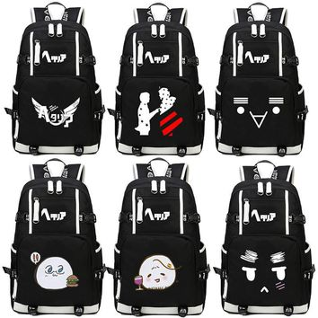 anime Axis Powers Hetalia APH Backpack cartoon Anime Women Men Cosplay canvas Luminous Laptop Schoolbag Travel Rucksack