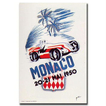 Monaco 1950 by George Ham-Gallery Wrapped 18x24 Canvas Art