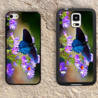 Butterflies Flowers iPhone Case-god's creations iPhone 5/5S Case,iPhone 4/4S Case,iPhone 5c Cases,Iphone 6 case,iPhone 6 plus cases,Samsung Galaxy S3/S4/S5-107