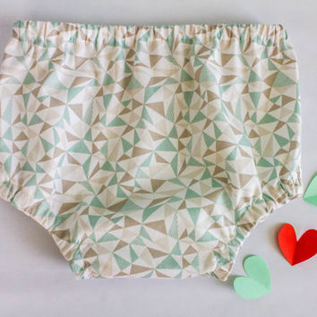 Baby boy / girl diaper cover, Handmade of 100% PIMA cotton fabric with geometric print. Baby boy / girl coming home outfit, Take home outfit