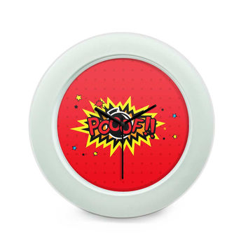 Pooof Comic Sound Quirky Illustration Table Clock