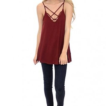 Crossed Off the List Tank, Red :: NEW ARRIVALS :: The Blue Door Boutique