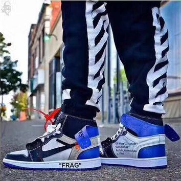 DCCK OFF-WHITE x Air Jordan 1 Blue