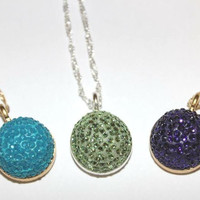 Michelle Kindberg- Swarovski Crystal and Clay Necklace