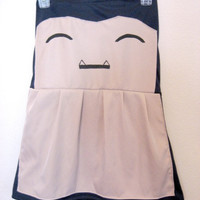 custom order Snorlax costume strapless dress by wildblacksheep