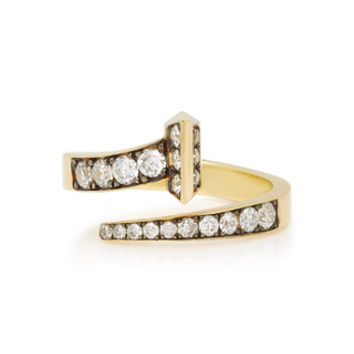 Equestrian 18K Gold Diamond Ring | Moda Operandi