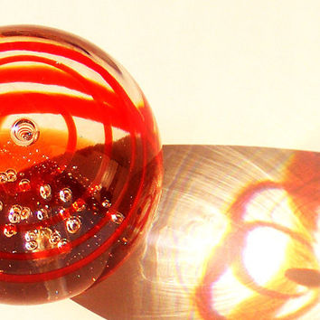 Vintage Paper Weight Art Glass by GSArcheologist on Etsy