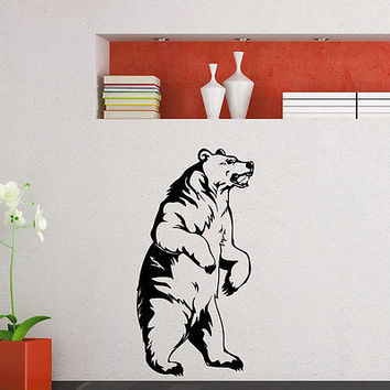WALL DECAL VINYL STICKER PREDATOR ANIMAL BEAR WILD DECOR SB850