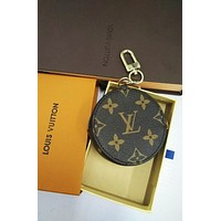 LV Louis Vuitton Popular Cute Round Leather Key Pouch Zero Wallet Coin Purse I/A