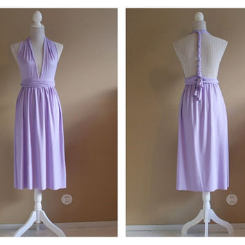 Plus size tea length infinity dress, plus size convertible dress, plus size bridesmaids dress, plus size infinity dress.