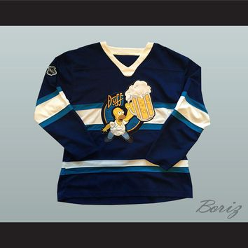Duff Beer Homer Simpson Hockey Jersey