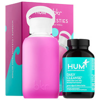 Clearly Besties - Hum Nutrition Daily Cleanse x bkr Hydration Duo - Hum Nutrition | Sephora