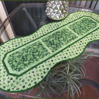Quilted Shamrocks Table Runner St Patrick 698