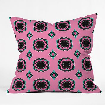 Elisabeth Fredriksson Sweet Licorice Flowers Throw Pillow