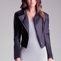 Peplum Leatherette Jacket