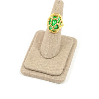 60's__Trifari__Cage Cocktail Ring sz 5 to 7