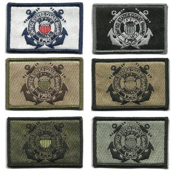 BuckUp Tactical Morale Patch Hook USCG Coast Guard Seal Patches 3x2""