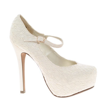 New Look Voile Crochet Heeled Shoes