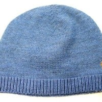 Polo Ralph Lauren Men's Classic Lux Merino Blue Beanie Hat One size